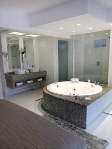 A bathroom at Hotel Rieger