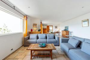 A seating area at House with 4 bedrooms in PortoVecchio with wonderful sea view enclosed garden and WiFi 400 m from the beach