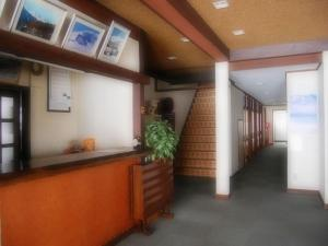 The lobby or reception area at Ougiya Ryokan