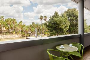 A balcony or terrace at Aparthotel Wellness