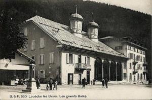 Thermal Hotels & Walliser Alpentherme Leukerbad зимой