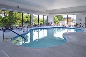 The swimming pool at or near Holiday Inn Express Morgantown