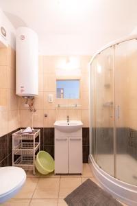 Łazienka w obiekcie Apartamenty Vasco da Gama