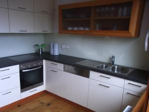 Küche/Küchenzeile in der Unterkunft Ferienwohnung Siloblick