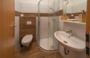 Koupelna v ubytování Hotel Panský dům