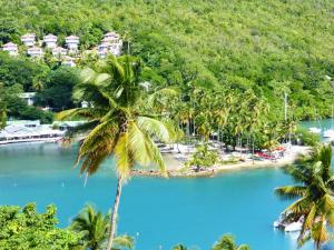 A bird's-eye view of Marigot Palms Luxury Caribbean Apartment Suites
