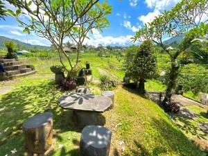 A garden outside Abian Ayu Villa