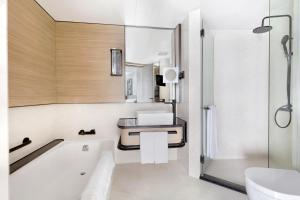 A bathroom at Harbour Grand Kowloon