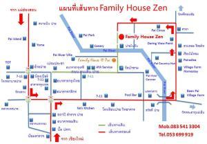 The floor plan of Family House Zen Boutique Resort
