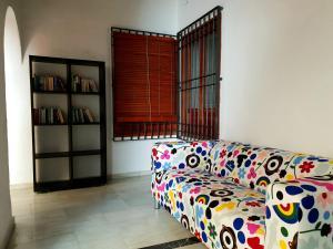 A seating area at ARC House Cordoba
