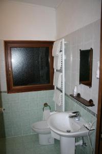 A bathroom at Hotel La Pigna