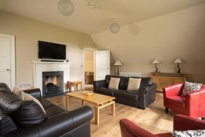 A seating area at Lodge at Lough Erne