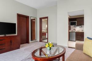 A television and/or entertainment center at DoubleTree by Hilton Ras Al Khaimah