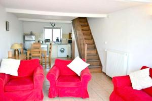 A seating area at House with one bedroom in Brux with shared pool enclosed garden and WiFi 100 km from the beach