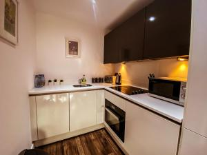 A kitchen or kitchenette at Skyline City Center Comfort & Free Parking