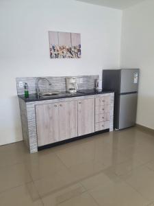 A cozinha ou cozinha compacta de Blue View Apartments