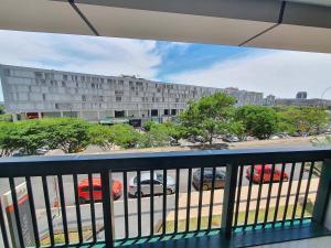 A balcony or terrace at Hotel Vision, Setor Hoteleiro Norte
