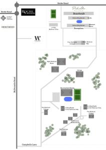 The floor plan of Pokolbin Village