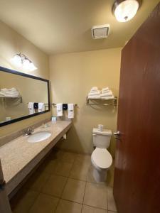 A bathroom at Cobblestone Hotel & Suites - Broken Bow