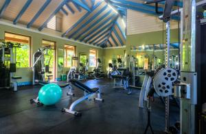 The fitness centre and/or fitness facilities at Rosalie Bay Eco Resort & Spa