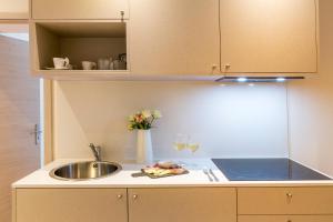 A kitchen or kitchenette at Best Western Hotel du Roy d'Aragon