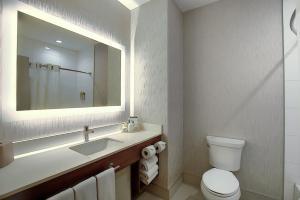 Um banheiro em Holiday Inn Express Airport Calgary