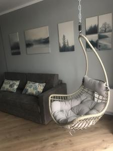 A seating area at Твой дом у моря