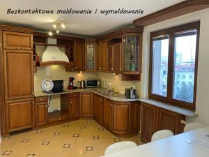 Kuchyň nebo kuchyňský kout v ubytování Royal Lazienki Apartment