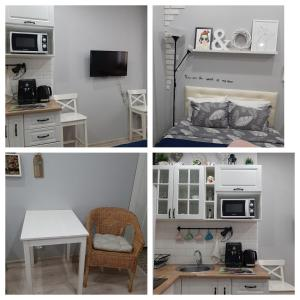 A kitchen or kitchenette at Apartment on Yubileyniy prospect