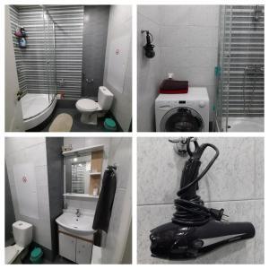 A bathroom at Apartment on Yubileyniy prospect