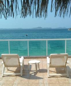 A balcony or terrace at Orlanova Hotel