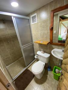 Łazienka w obiekcie Eco Lodge La Juanita