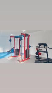 The fitness centre and/or fitness facilities at Apartamento mobiliado completo