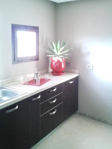 A bathroom at Apartment with 2 bedrooms in Marrakech with shared pool furnished terrace and WiFi 185 km from the beach