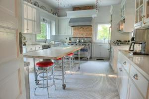 A kitchen or kitchenette at The Jackie O' House Bed and Breakfast