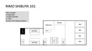 The floor plan of Rimo Shibuya 101