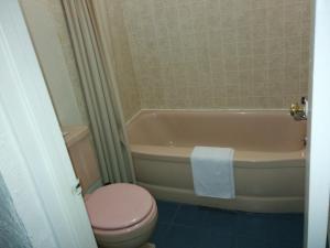 A bathroom at Crystal Motel