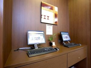 The business area and/or conference room at Hotel Route-Inn Nakatsugawa Inter