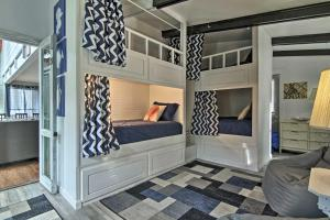 A bunk bed or bunk beds in a room at Home with Patio as Seen on TV! - Walk to Dewey Beach!