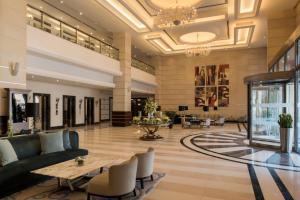 The lobby or reception area at Concorde Hotel Doha