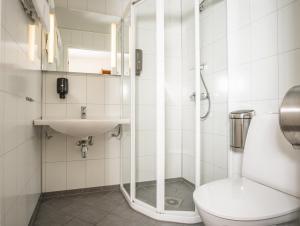 A bathroom at Skagi Senja hotel & lodge