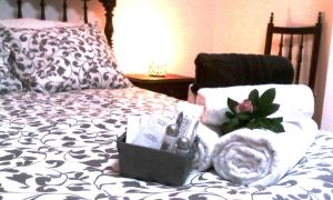 Cama o camas de una habitación en Casa da Lomba