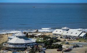 Una vista aérea de Solanas Playa Mar del Plata