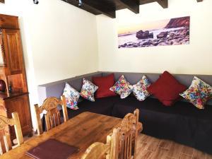 A seating area at Finca Tomás y Puri