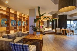 The lobby or reception area at Palmera Beach Hotel & Spa