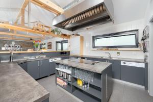 Kuchyň nebo kuchyňský kout v ubytování Relax Zone Vrchovina