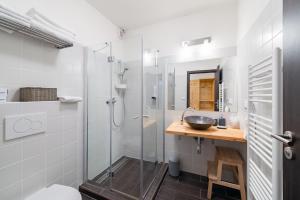 Koupelna v ubytování Relax Zone Vrchovina