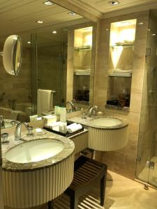 A bathroom at The Leela Mumbai, Airport