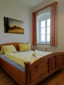 Ein Bett oder Betten in einem Zimmer der Unterkunft Mayr-Eichberg, Familie Berndl