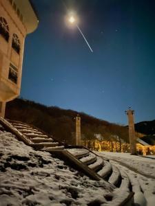 Altiagac Cennet Bagi durante o inverno